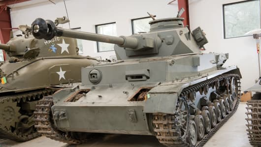 ThePanzerkampfwagen  IV Ausf. was widely used by the Germans in World War II.